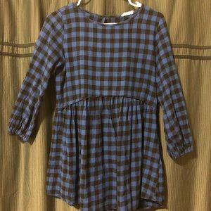 Black and Blue checkered Tunic